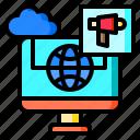 advertisement, advertising, cloud, computer, monitor, weather, worldwide
