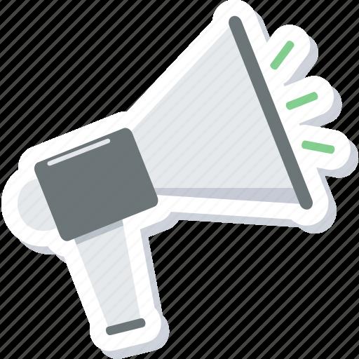 alert, announcement, attention, broadcast, bullhorn, loud, megaphone icon