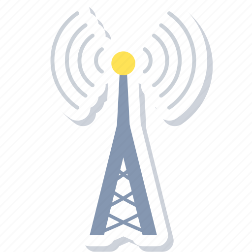 communication, internet, network, signal, tower icon