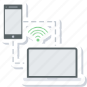 connection, connectivity, link, network, signal, wifi, wireless icon