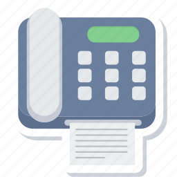 fax, page, paper, phone, telephone icon