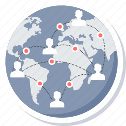 communication, connection, global, network, social, web icon