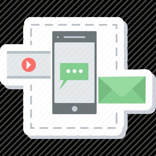 communication, media, mobile, multimedia, smartphone, video icon