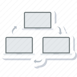 computer, connection, network, networking, sharing icon