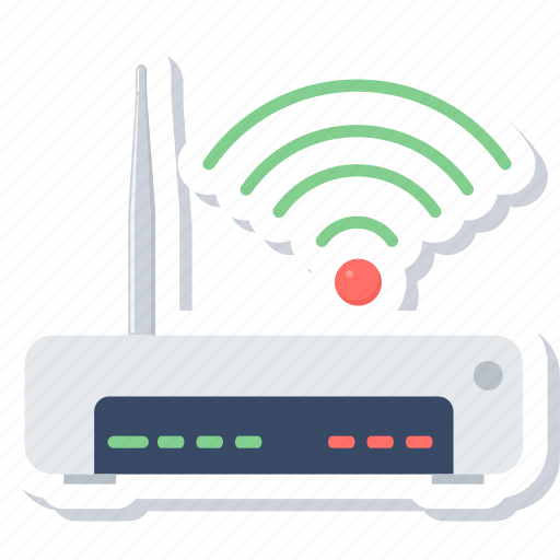 antenna, modem, network, router, signal, wifi, wireless icon