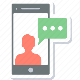 chat, communication, message, mobile, sms, talk icon