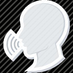 communication, conversation, message, speak, speech, talk icon
