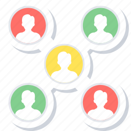 community, connection, group, media, network, social icon