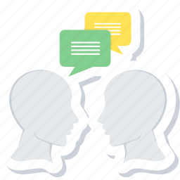 chat, communication, conversation, discussion, message, people icon