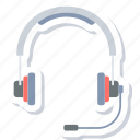 audio, headphone, headset, microphone icon