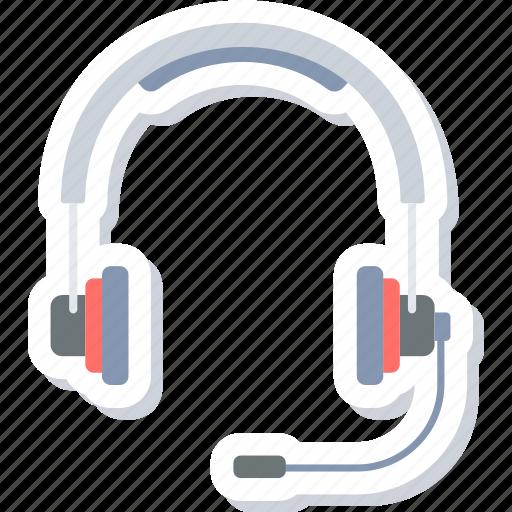 audio, headphone, headset, microphone icon