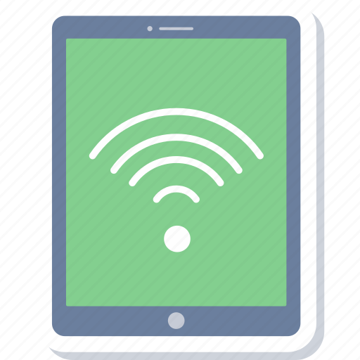 internet, network, signal, tablet, web, wifi, wireless icon