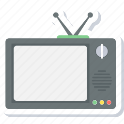 display, screen, television, tv icon