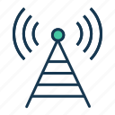 antenna, broadcast, communication, radio, signal icon