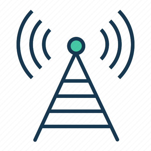 antenna, broadcast, communication, radio, signal icon