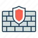 alert, antivirus, firewall, protection, safety, security icon