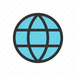 globe, internet, language, network icon