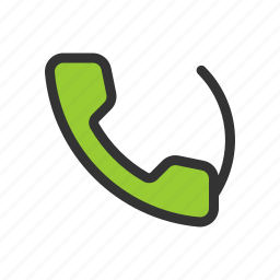 dial, phone, up icon