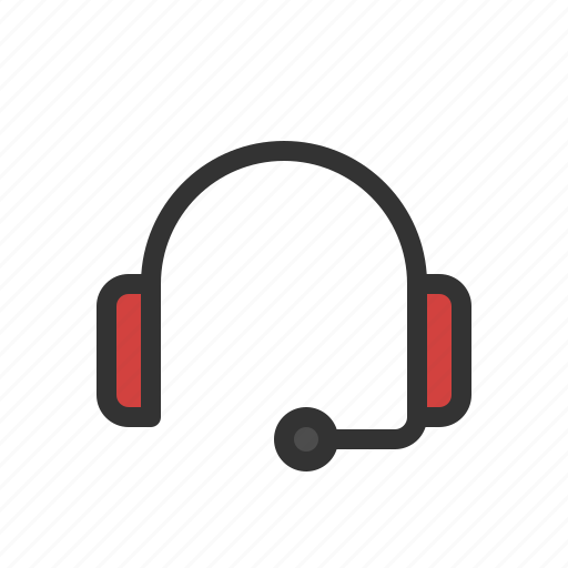 customer care, headset, sound icon