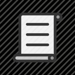 letter, script, scroll icon