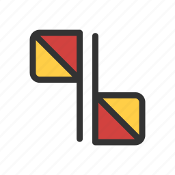 flag, scout, semaphore icon