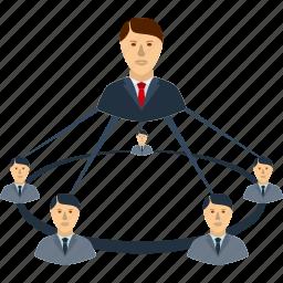 business, communication, information, management, team, technology, work icon