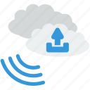 business, cloud, communication, information, storage, technology, upload icon