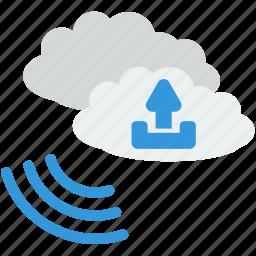 business, cloud, communication, information, storage, technology, upload icon