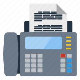 business, communication, device, fax, information, technology, telephone icon
