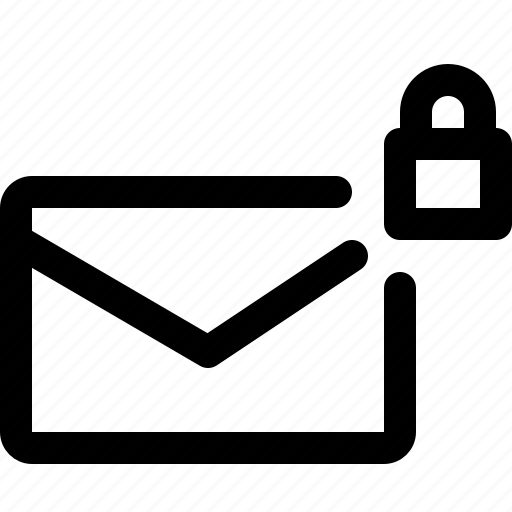 communication, email, lock, mail, message, pretection icon