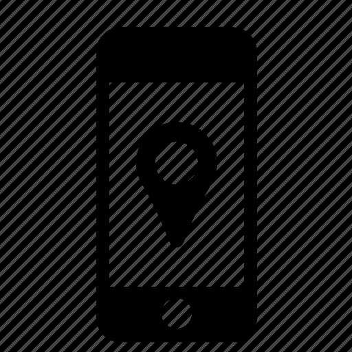 iphone, location mark, locator, mobile, phone, smartphone, telephone icon