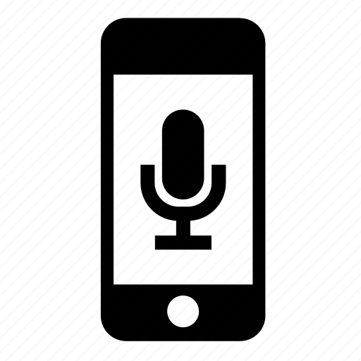 iphone, microphone, mobile, phone, smartphone, sound, telephone icon
