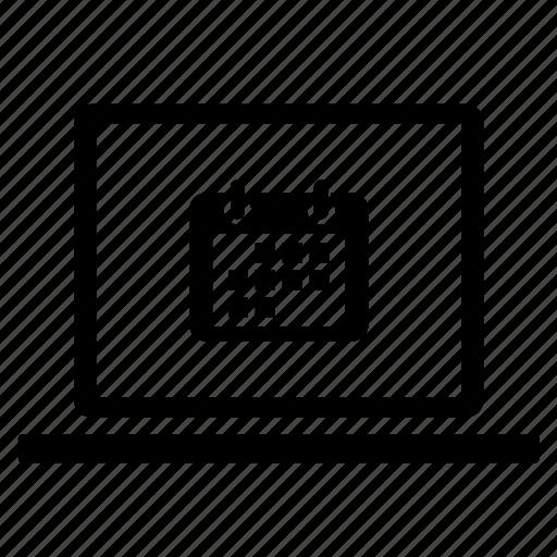 calendar, communication, computer, laptop, message, messaging, technology icon