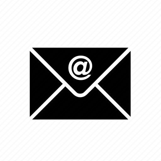 at sign, email, envelope, mail, mailing, message, messaging icon