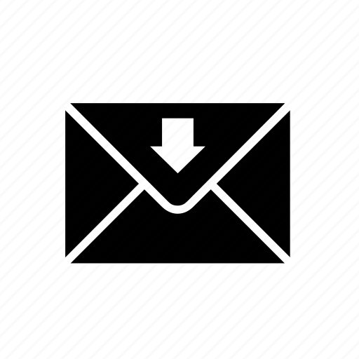 envelope, inbox, mail, mailing, message, messaging, received icon