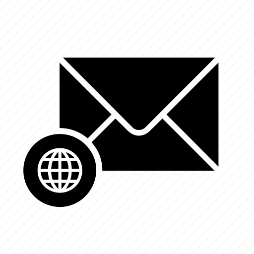 envelope, globe, mail, mailing, message, messaging, world icon
