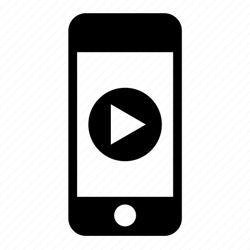 archive, iphone, mobile, phone, play, smartphone, video icon