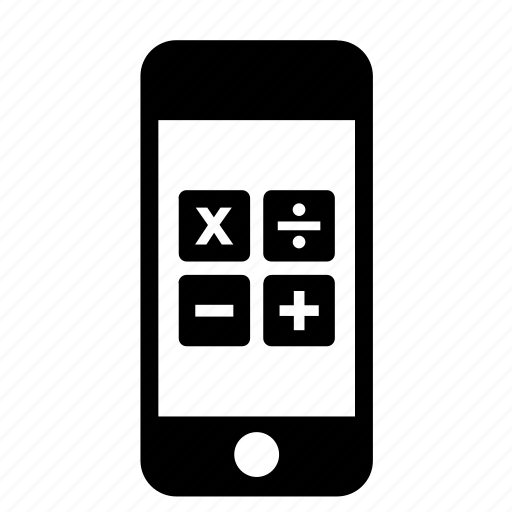 calculator, iphone, mobile, phone, smartphone, telephone icon
