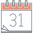 31, appointment, booking, calendar, date, schedule icon