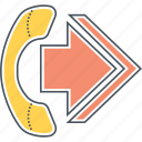 call, call forwarding, call redirecting, call transfer, forwarding icon
