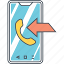 incoming, incoming call icon