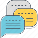 discussion, forum, group chat, messaging icon