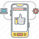 mobile app, mobile application, mobile interface, mobile solutions, smartphone icon