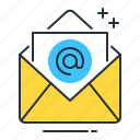 direct mail, direct mailing, email icon
