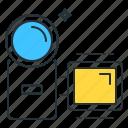 camera, handycam, video camera icon