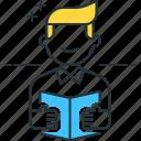 book, reader, readership, reading icon