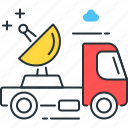 satellite, truck, broadcasting, transportation