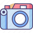 camera, digital camera, mirrorless camera, photography icon