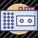 casette, casette player, cassette icon