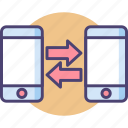beam, bluetooth, data migration, data sharing, data transfer, nfc, wifi direct icon